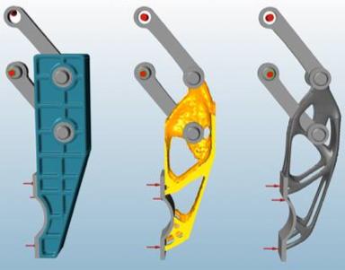 Illustration af topologioptimering
