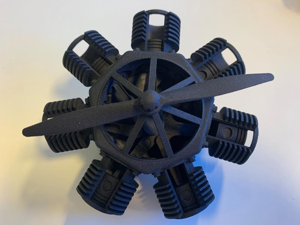 3D printet stjernemotor