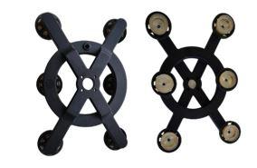 Rototværktøj illustreret forfra og bagfra. Hvid baggrund.